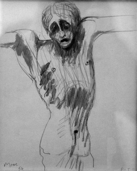 Crucifixión, de Henry Moore (1898-1986) Museo del Vaticano, foto  de Oscar Tenreiro