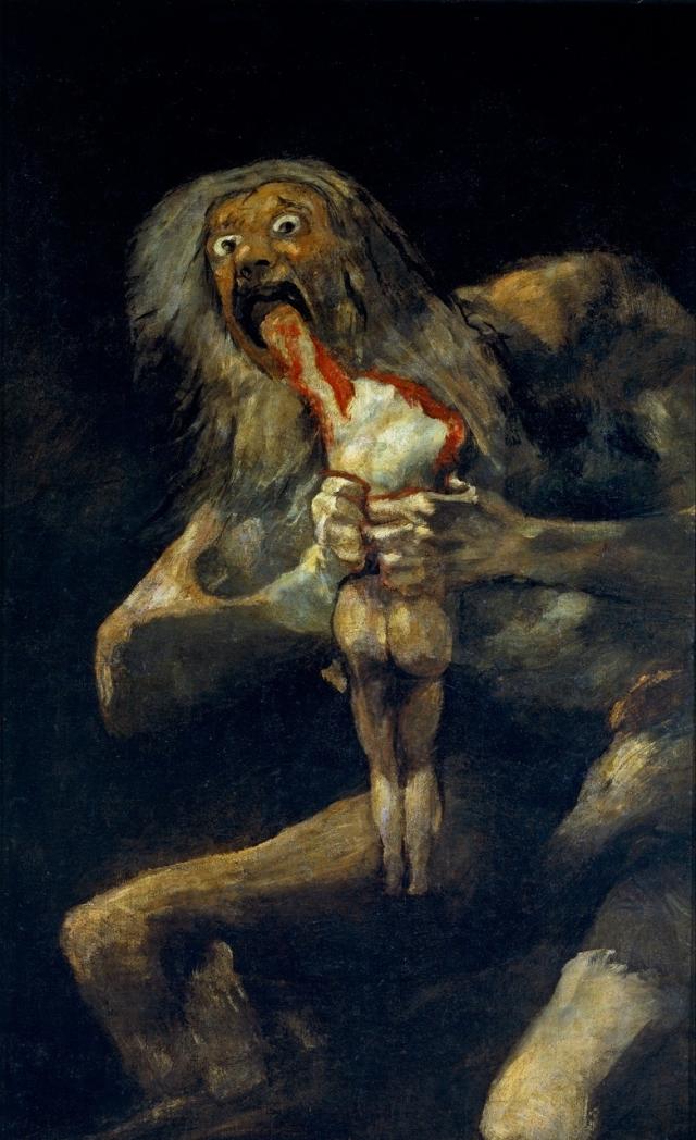 Saturno devorando a su hijo, de Francisco de Goya y Lucientes (1746-1828)