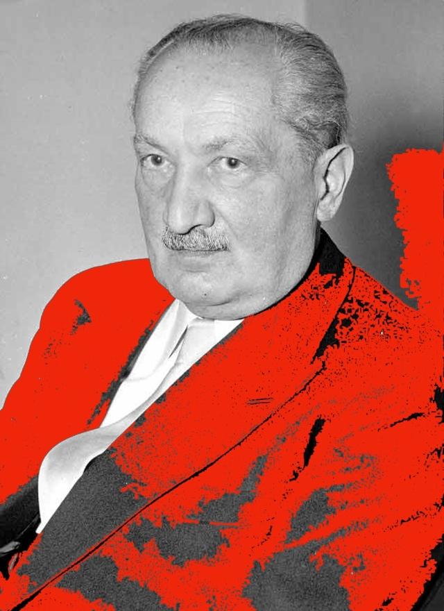 Martín Heidegger (1889-1976), simpatizante del nazismo y filósofo de alcurnia: contradicción insalvable.