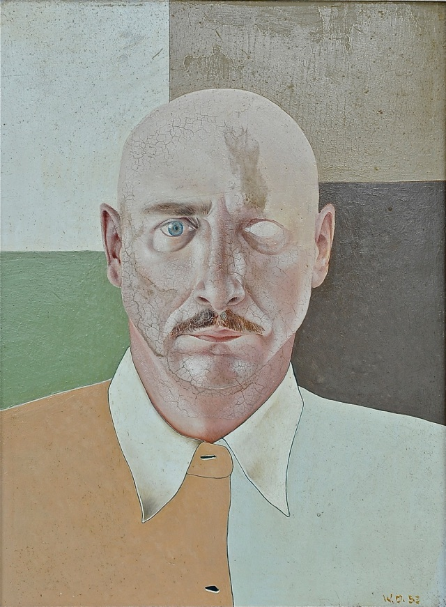Autorretrato de Willy Ossott, pintado en 1953, de la colección del Arq. Pedro Sosa Franco.