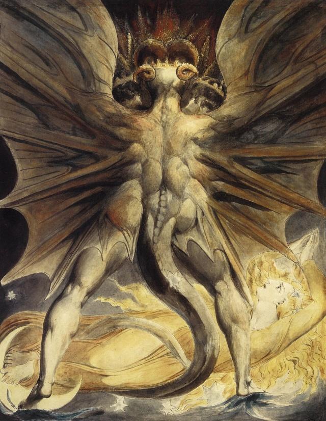 """""""El Gran Dragón Rojo"""" de William Blake (1805)"""