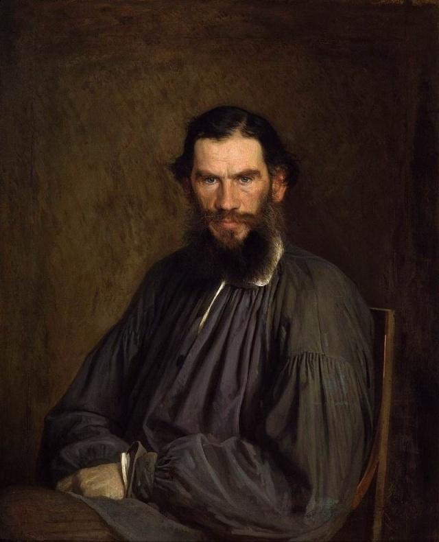 León Tolstoi joven, por el pintor ruso Iván Kramskoi