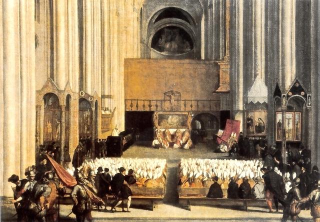 4. Sesión del Concilio de Trento por Tiziano