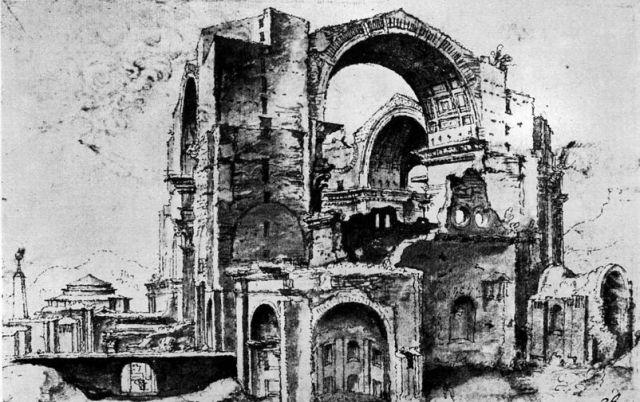 11. San Pedro-Estado de la obra luego del Saqueo de Roma (1527)