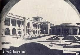 Patio Interno del Hotel Jardín. A la derecha la rotonda del Bar-Comedor