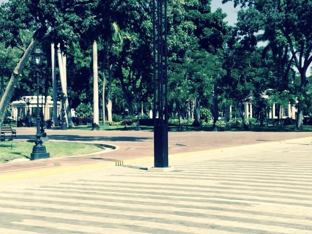 En la Plaza Bolívar las rotondas de las retretas.