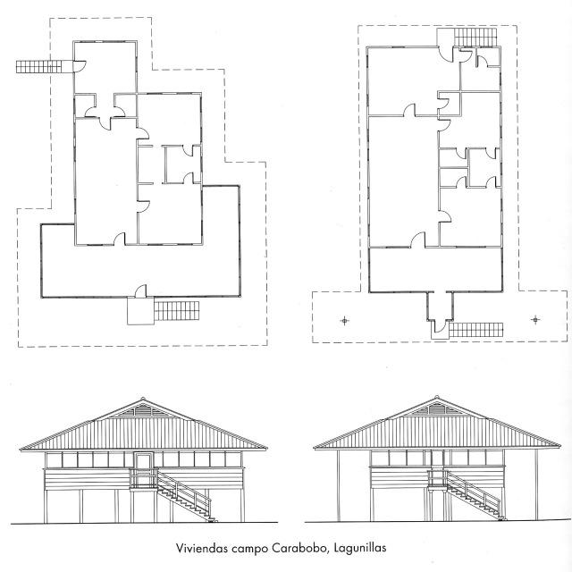 1. Del libro de Pedro Romero: Un tipo de vivienda petrolera similar al de las casas de Ocumare cuyos pilotes eran mucho más bajos.