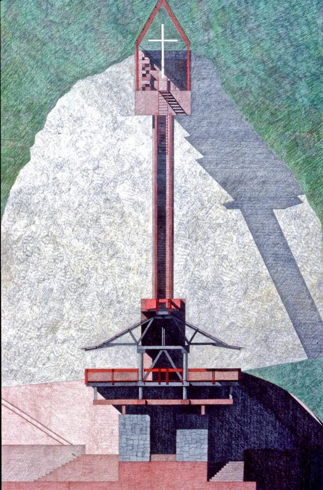 Un dibujo de los que acompañaban el Proyecto del Museo Conmemorativo de Macuro.