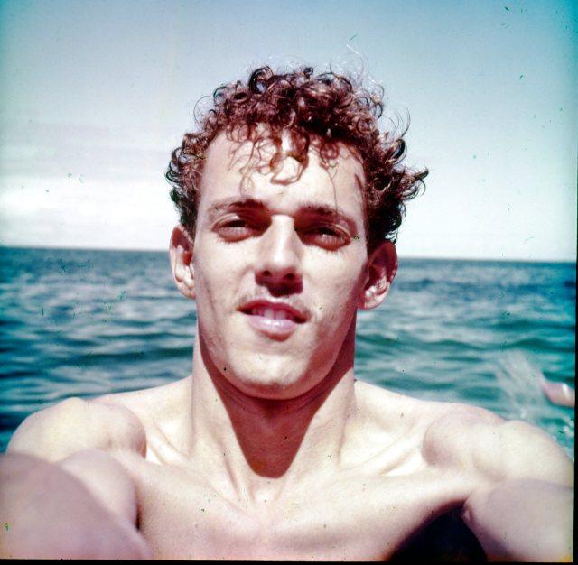 Pedro Glücksmann en un selfie de la época.