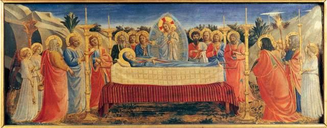 La Dormition de la Virgen María, de Fra Angelico (1395-1455)